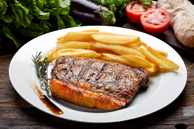 Picanha met friet, steakgrill