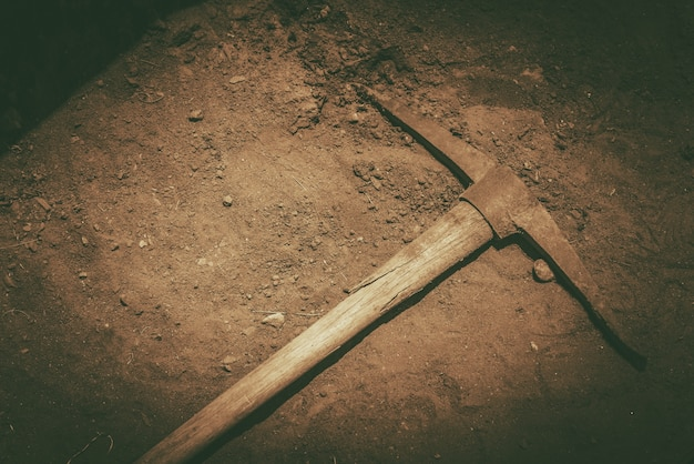 Pickaxe op de grond