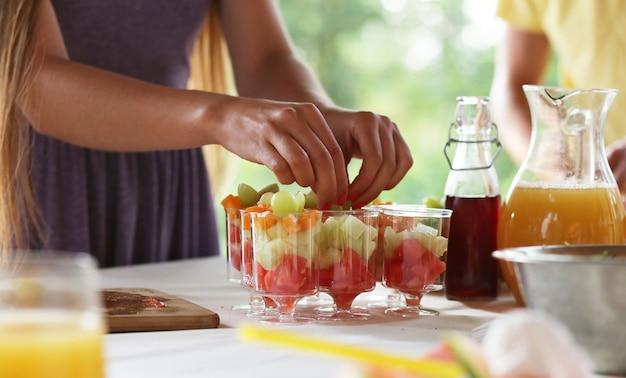 Picknick eten en drinken