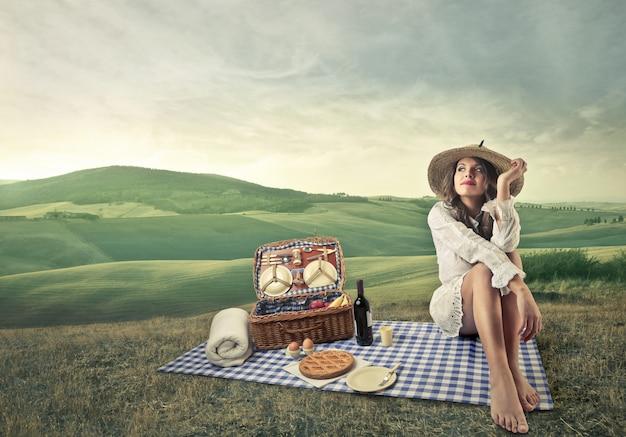 Picknick op het platteland