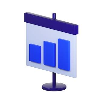Pictogram van plakkaat met diagram op wit wordt geïsoleerd