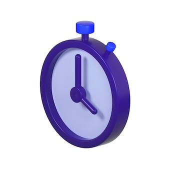 Pictogram van timer geïsoleerd op wit