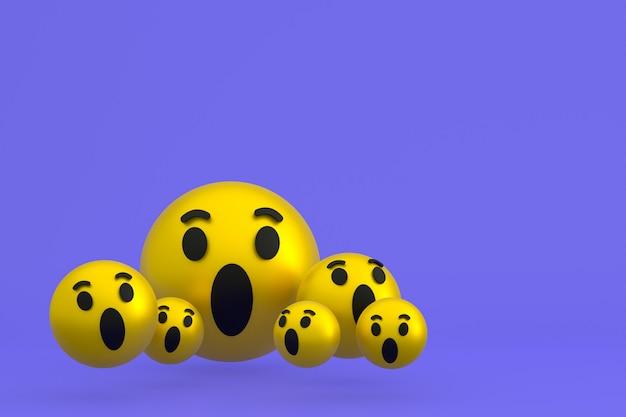 Pictogramreacties emoji 3d render