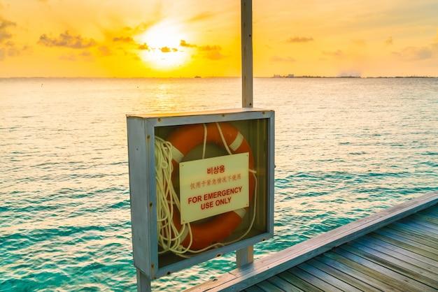 Pier touw veilige rode hulp