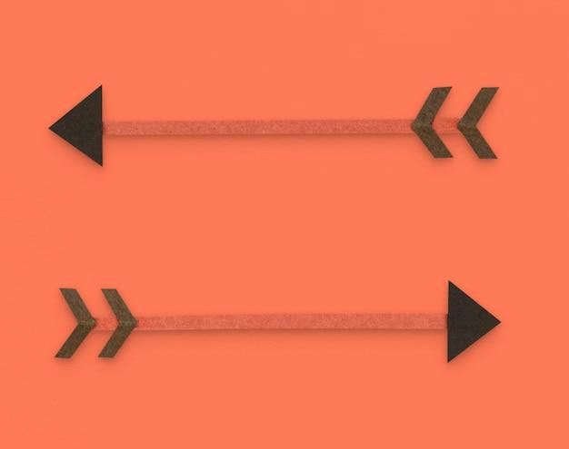Pijl boogschieten richting pictogram symbool