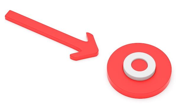 Pijl gericht op de cirkel
