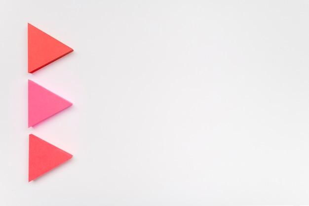 Pijlen in pastelkleuren