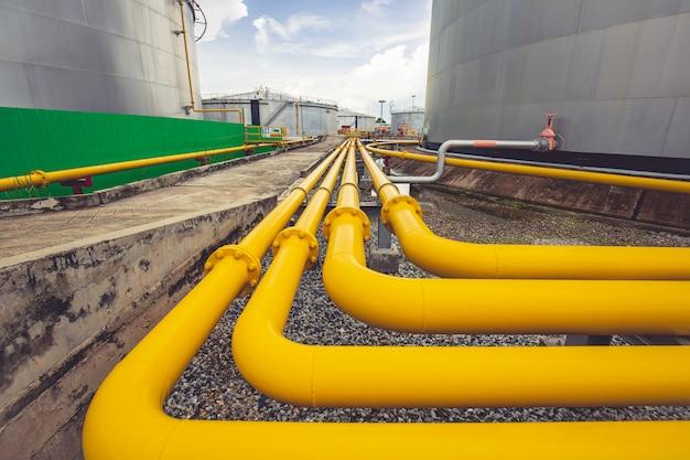 Pijpleiding stromende gele olie-apparatuur voor inlaat- en uitlaatolietank van pijpleidingen;