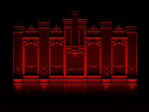Pijporgel rood zwart abstract concept