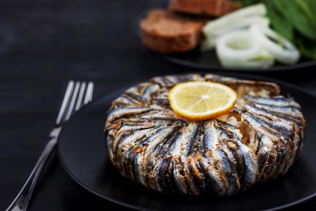 Pilaf met hamsi-ansjovisvis