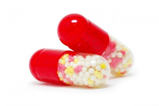 Pillen capsule geïsoleerd