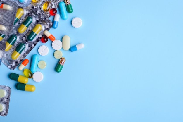 Pillen, capsules en andere medicijnen met kopie ruimte