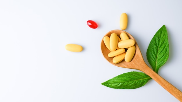 Pillen tablet, capsule en vitamine organische supplementen