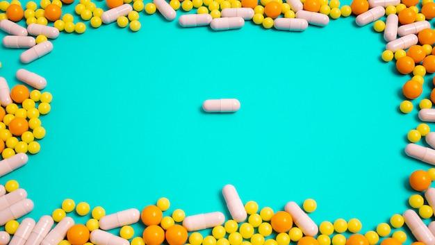 Pillen, vitamines voor ziekten. preventie van influenza