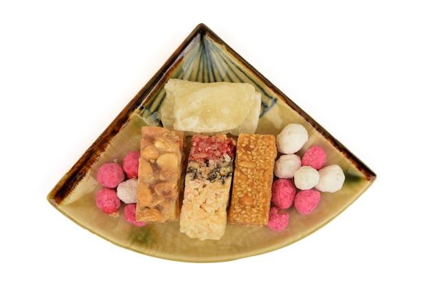 Pinda snoep en gekonfijte wintermeloen festival chinees jaar.