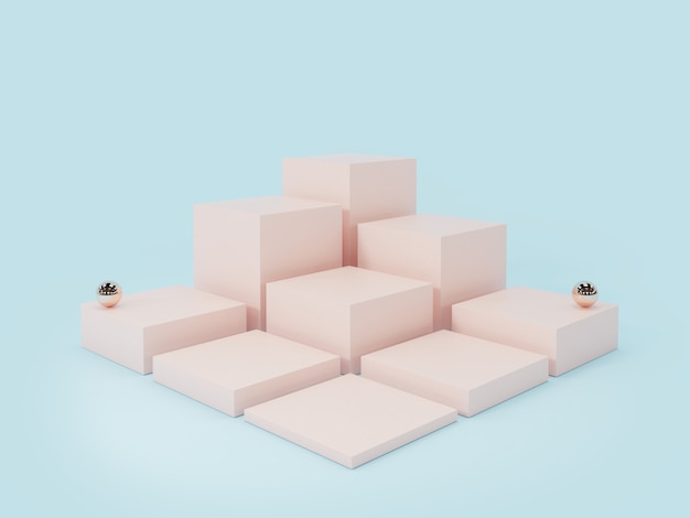Pink product-display podium