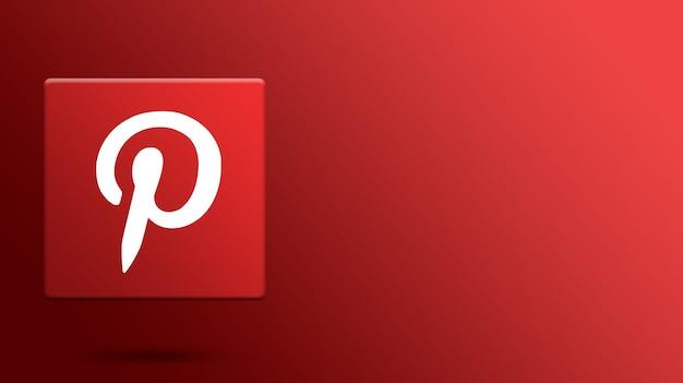 Pinterest-logo op 3d-platform