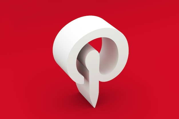 Pintrest logo 3d-rendering