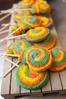 Pinwheels lollypop voor carnaval
