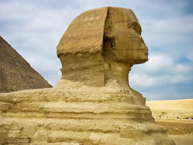 Piramides van gizeh en de sphynx, caïro, egypte