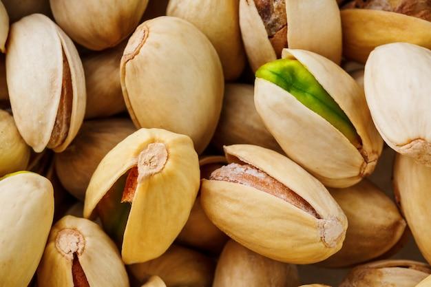 Pistache textuur. noten. groene verse pistaches als textuur.