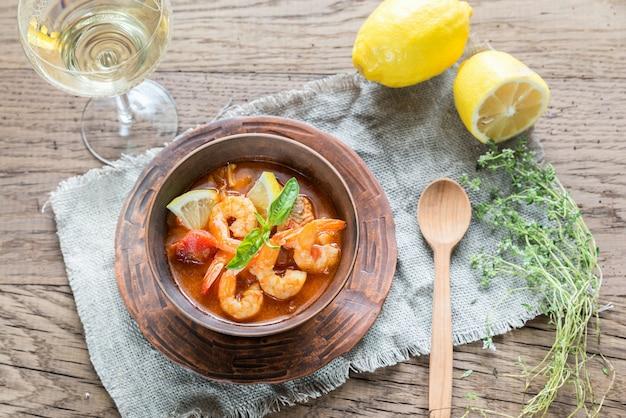 Pittige franse soep met zeevruchten