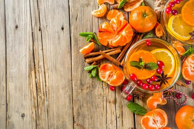 Pittige mandarijnthee