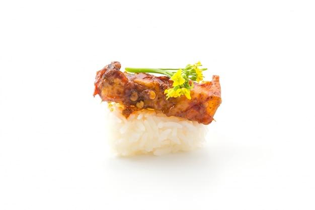 Pittige streaky pork sushi