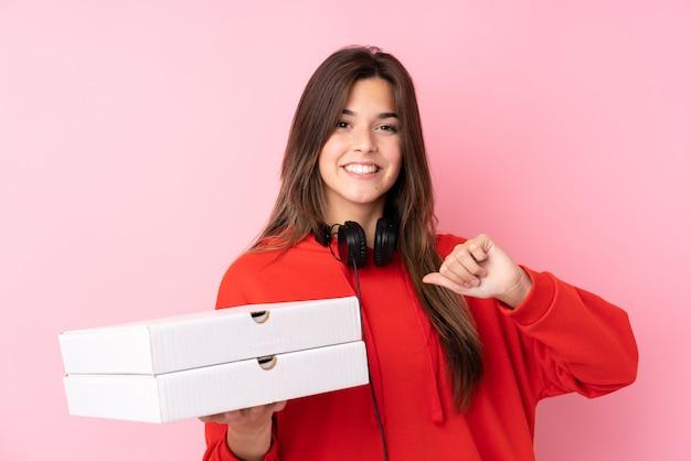 Pizza bezorger meisje