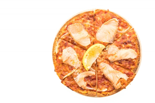 Pizza gerookte zalm