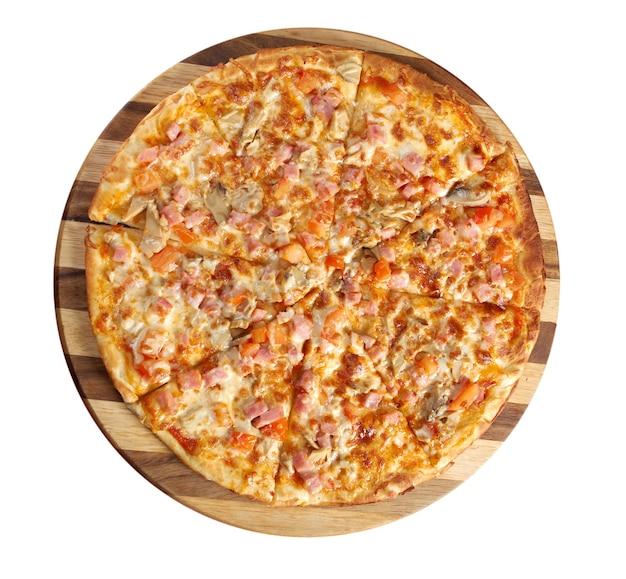 Pizza landbouw. italiaanse keuken. studio