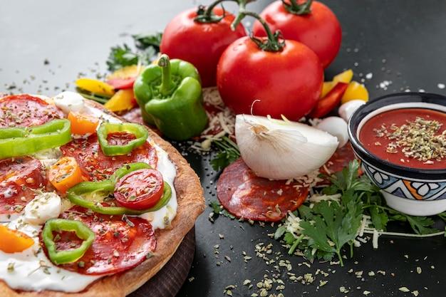 Pizza met groenten