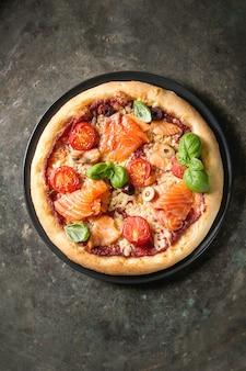 Pizza met sa