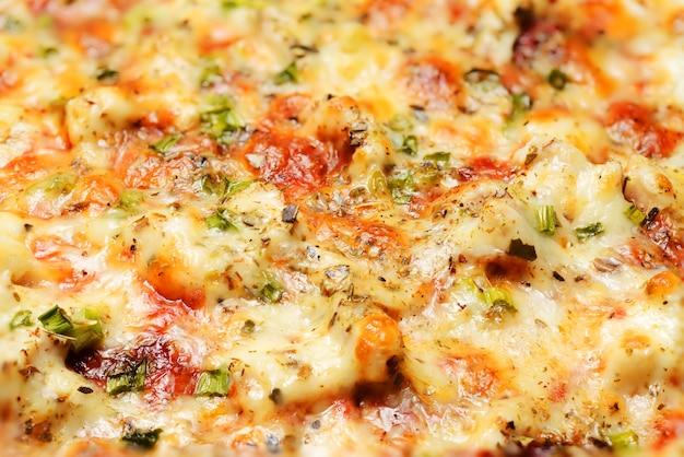 Pizzaclose-up als achtergrond