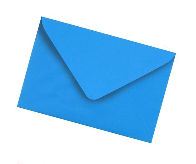 Plain blauwe envelop