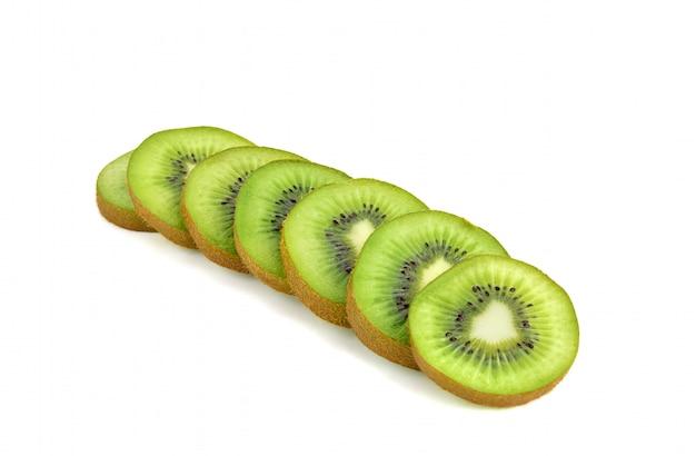 Plak van geïsoleerd kiwifruit