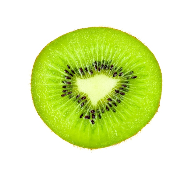 Plakje kiwi's geïsoleerd op een witte achtergrond