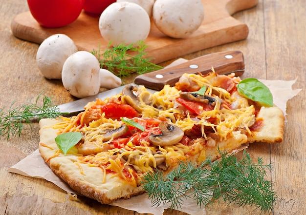 Plakjes pizza