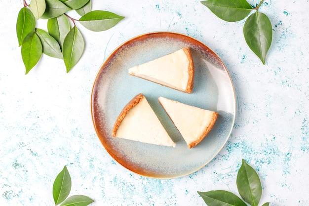 Plakjes zelfgemaakte new york cheesecake