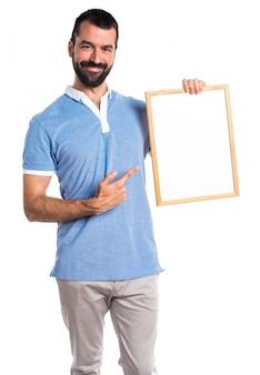 Plakkaart karton blauw volwassen mode