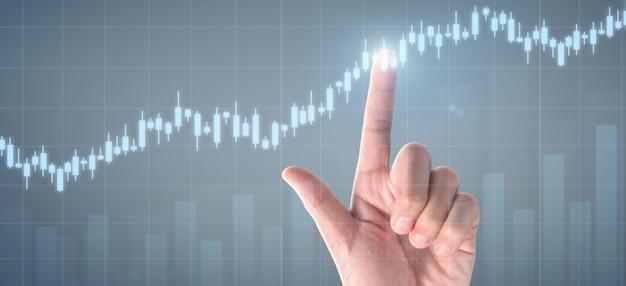 Plan grafiekgroei en toename van positieve indicatoren van de grafiek