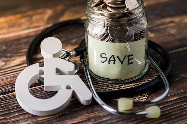 Plan om geld te besparen om de gezondheid van het gezin te behouden