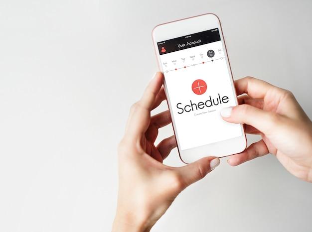 Plan time management planner concept