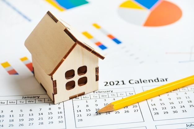 Plan voor het plannen van hypotheken en aankopen van onroerend goed in het jaar 2021.