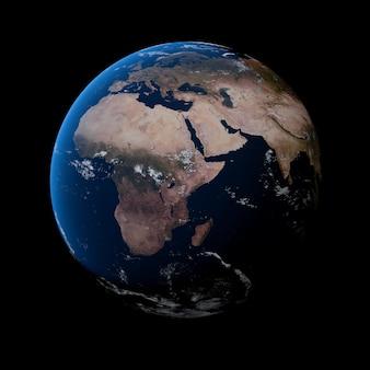 Planeet aarde behang 3d illustratie