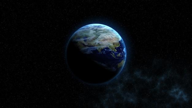 Planeet aarde. deze afbeeldingselementen geleverd door nasa
