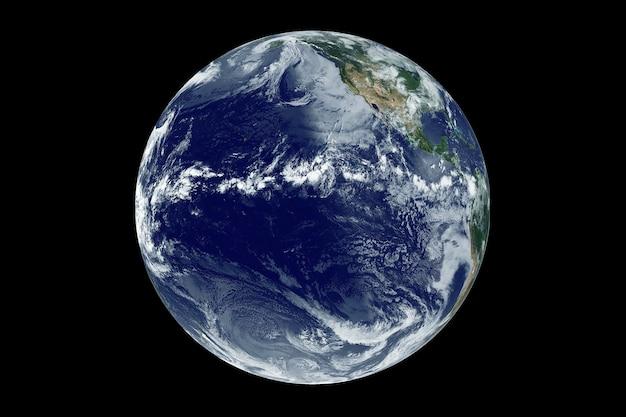Planeet aarde met de atlantische oceaan. elementen van deze afbeelding zijn geleverd door nasa. hoge kwaliteit foto