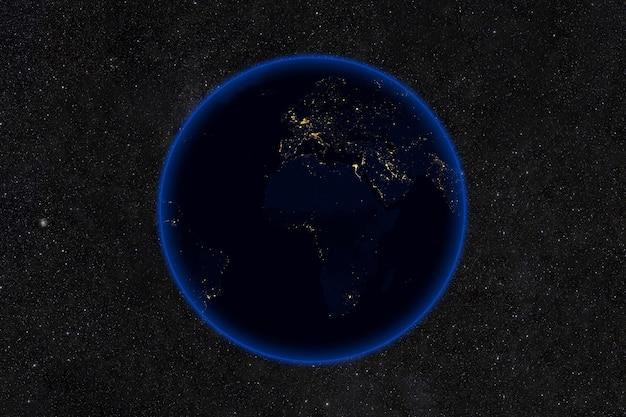 Planeet aarde 's nachts