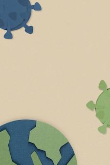 Planeet aarde tegen coronavirus sociale banner