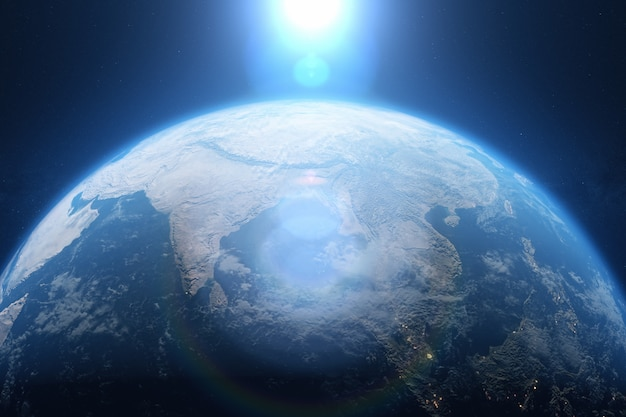 Planeet aarde vanuit de ruimte